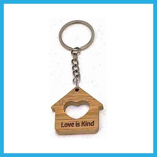 Ouranos Art Christian Gift For Parent Student Mandarin Scripture Wooden Featured Keychain