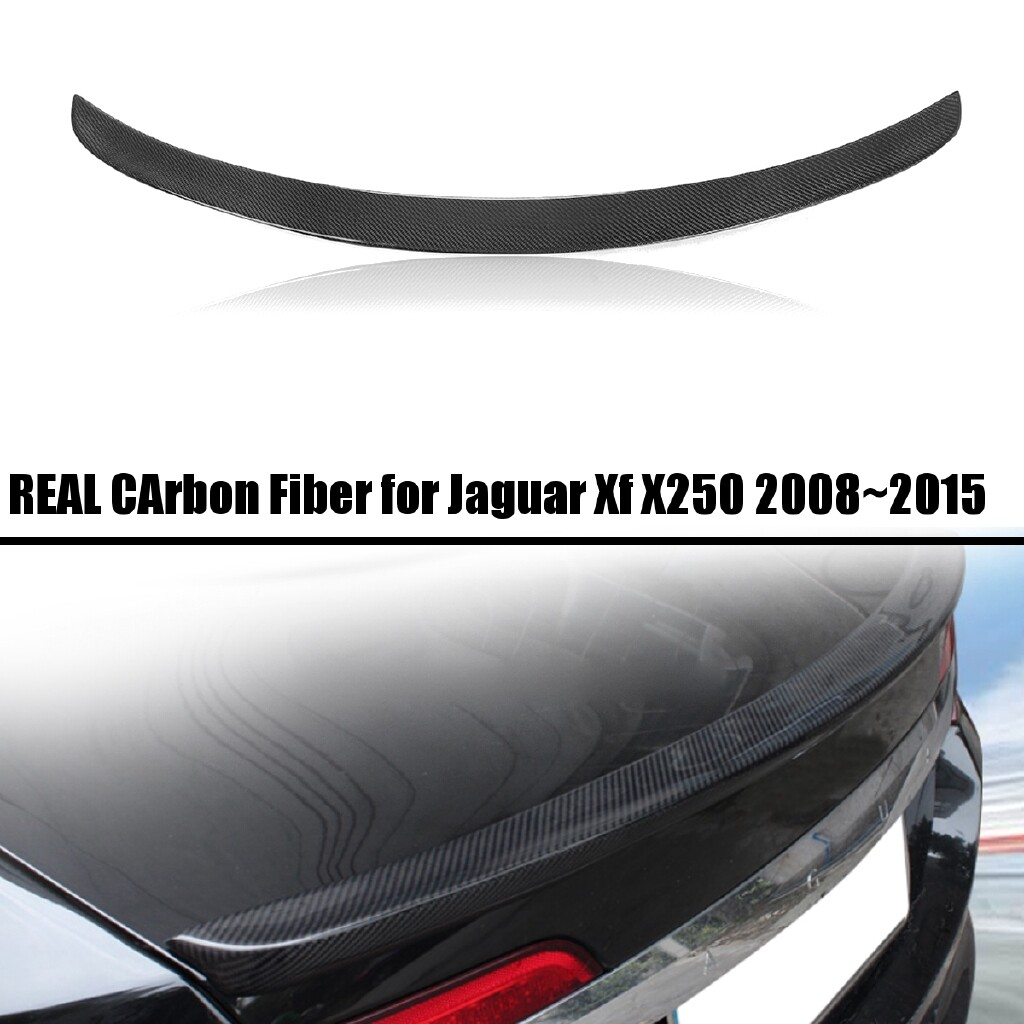 Engine Parts - REAL Carbon Fiber Rear Boot Wing Spoiler Lid For Jaguar Xf X250 2008 - 2015 - Car Replacement