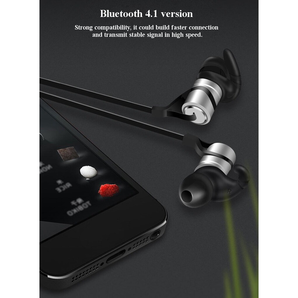 Mobile Audio Earbuds - Magnetic WIRELESS Sports BLUETOOTH Earphone Stereo Earbud - GREY / GOLD / SILVER / ROSE GOLD