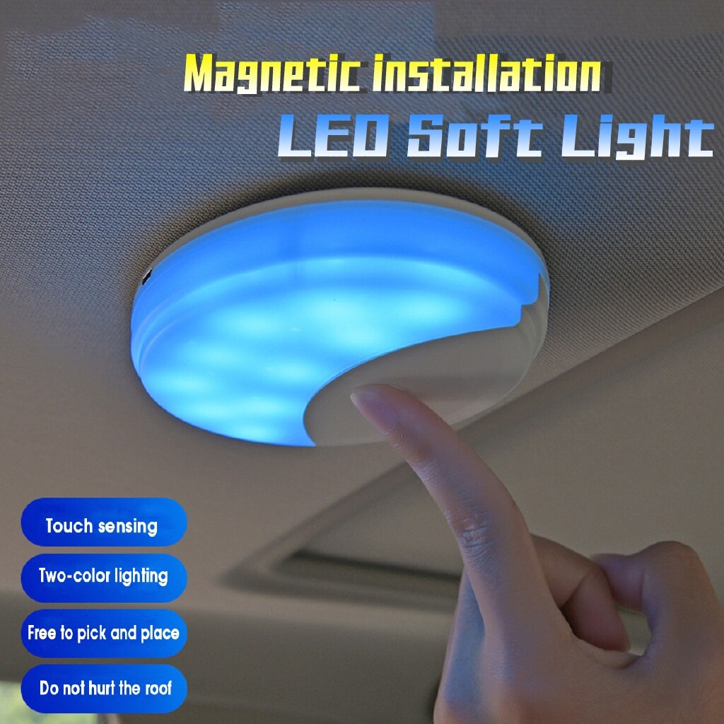 Car Lights - Car Vehicle Interior Roof Ceiling Dome Light Round Lamp USB LED Car Soft Light - Replacement Parts