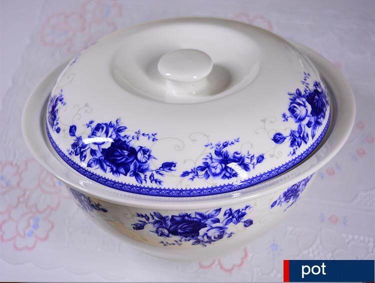 Royal Rose Fine Porcelain Dinnerware Plate 56pcs