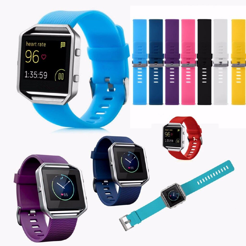 Smart Watch - Silicone Watch Band Sport Replace Wristband Straps For Fitbit Blaze Smart Watch - BLACK / YELLOW / DARK BLUE / WHITE / LIGHT BLUE / RED / PINK / PURPLE