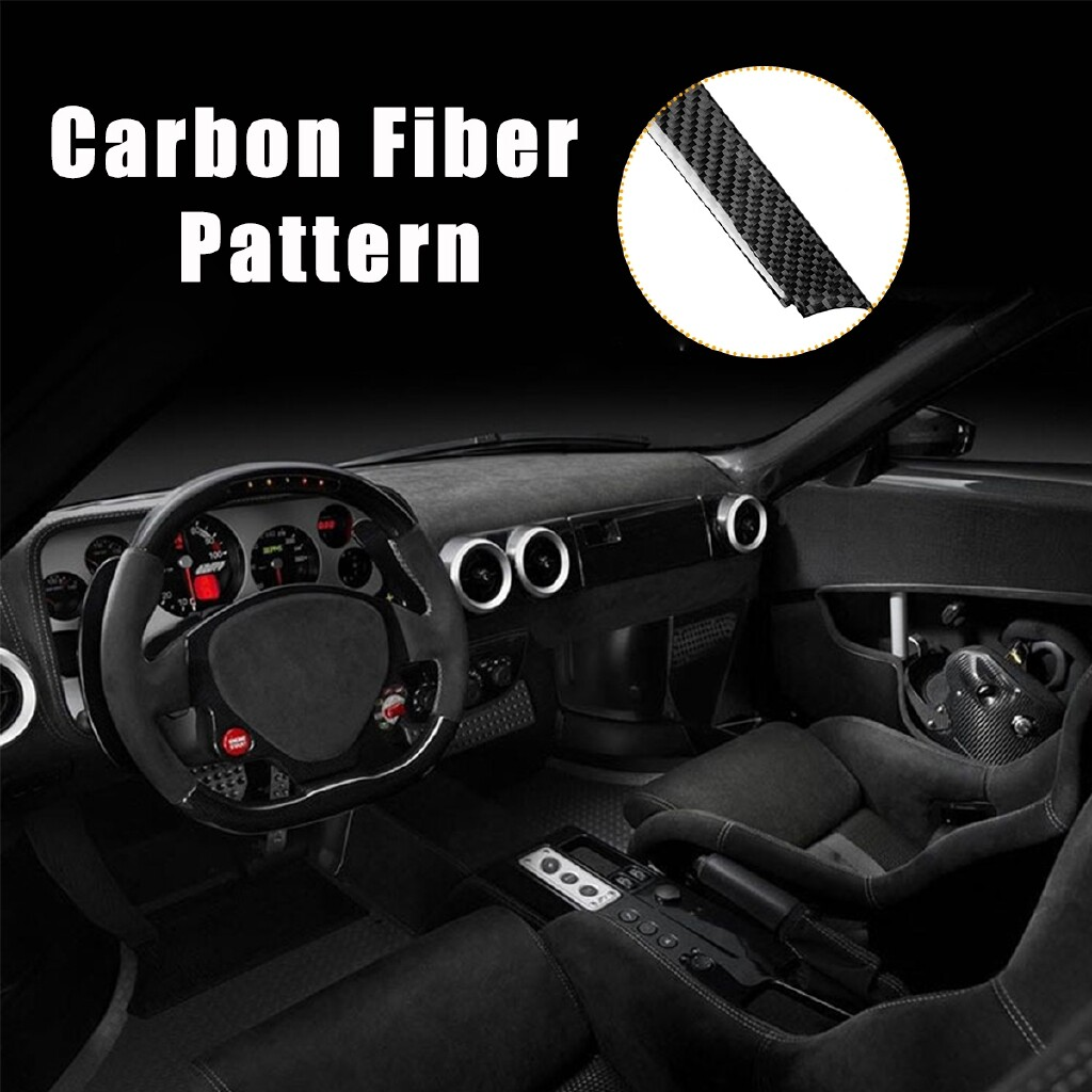 Engine Parts - 5 PIECE(s) Dashboard Center Strip Cover Carbon Fiber for Chevrolet Camaro 2017- - Car Replacement