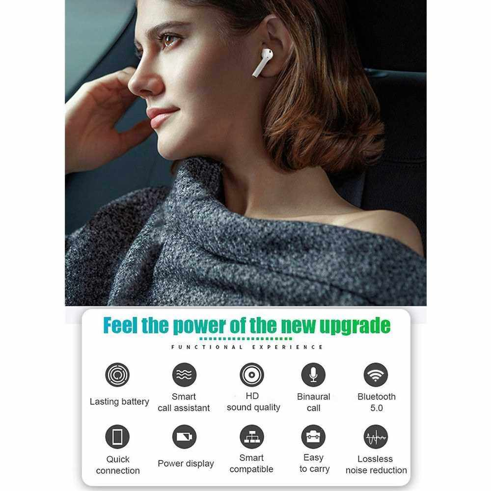 Best Selling i15 TWS Earphones BT 5.0 Wireless Headset Noise Reduction HD Binaural Call Microphone Sports Business Earbuds Quick Connection (Green)