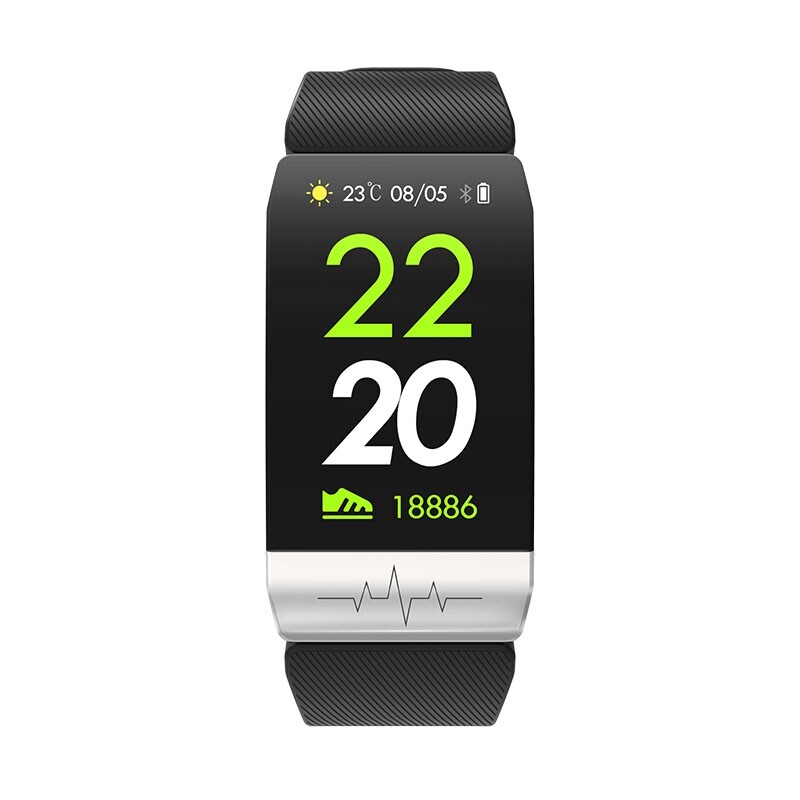 Smart Watch - Q1S ECG+PPG All-day Heart Rate Long Battery Life Sports Mode Weather Push Smart Watch Band - BLACK / GREY / RED
