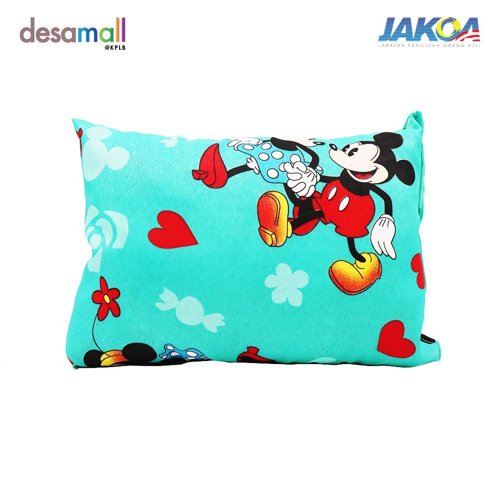Bantal Bayi Kekabu - Mickey Mouse (Hijau)