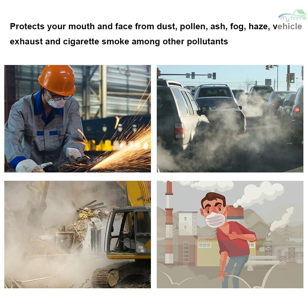 Protective Clothing & Equipment - 3M 8210 Dust Mask Mouth Mask for Pollution Pollen Allergy Woodworking Mowing Running Half Face Mask - WHITE