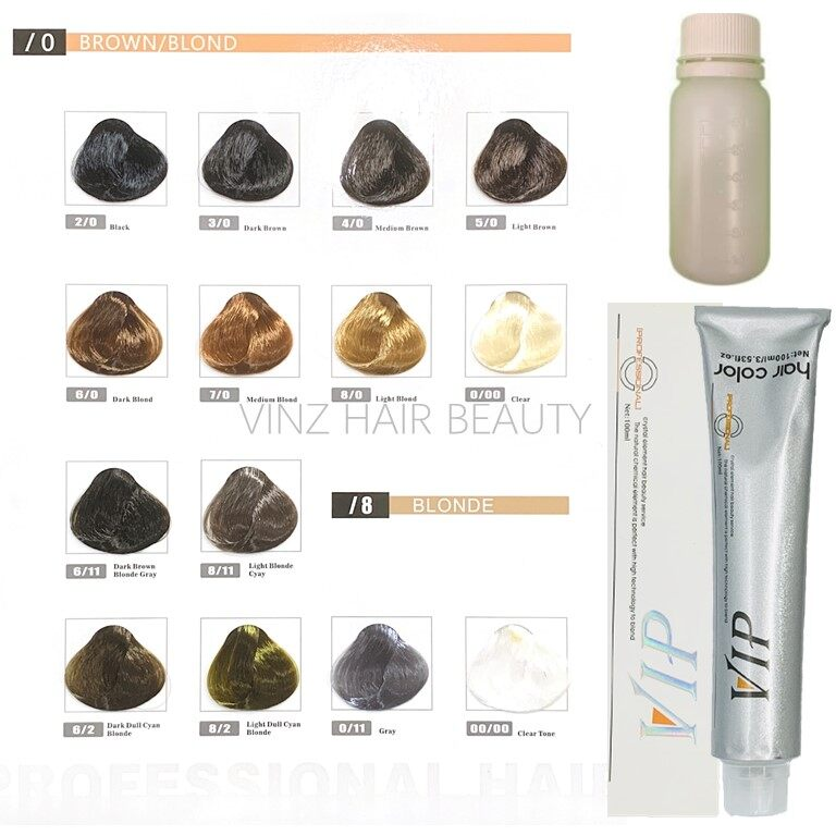 VIP Hair Dye Color Cream 100ml (With Peroxide)