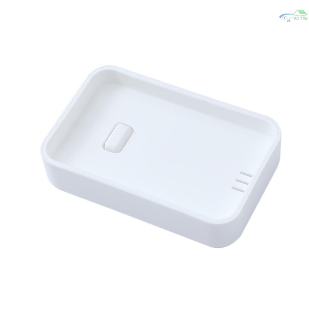 Storage Bins & Baskets - Pure Color Soap Box Fresh & Simple Soap Holder Home Travelling Sturdy Plastic Soap Container - BLUE / WHITE