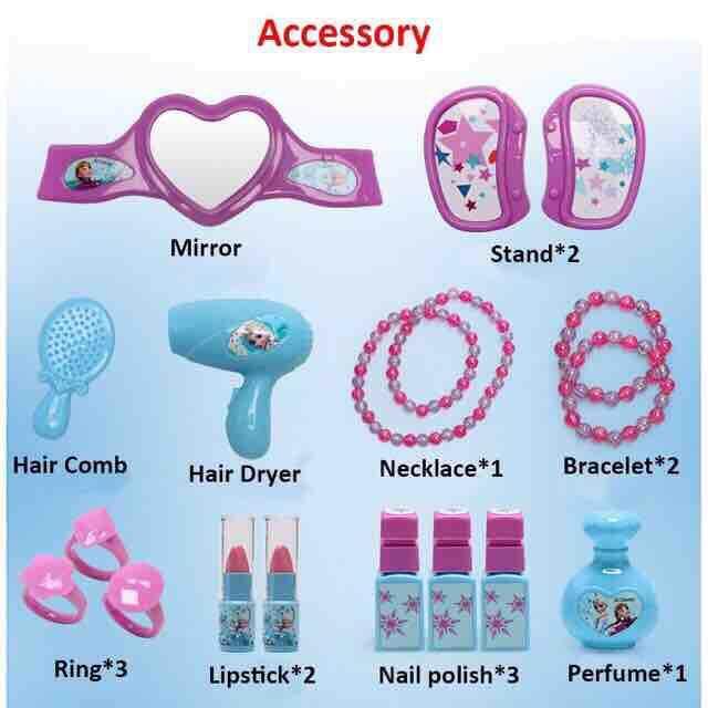 Disney Frozen Princess Make Up Box Suitcase Kids Pretend Play Toy Set (Ready Stock)