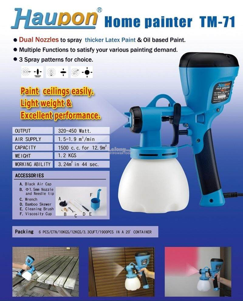 Haupon HVLP Electric Spray Gun (Home Painter TM-71)