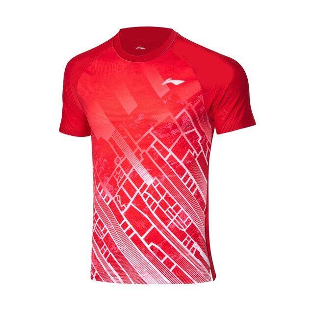 Li-Ning Women's Badminton Jersey - Red ABDP372-2