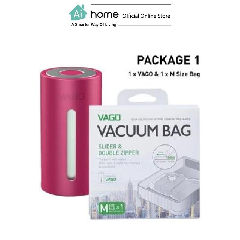 VAGO Portable Compressor TVD1 + 1 x Free M Size Bag with 1 Year Malaysia Warranty [ Ai Home ] VTVD1P
