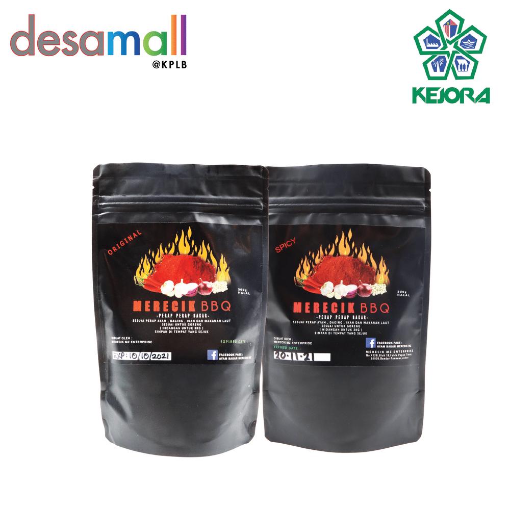 [Combo 2] MERECIK BBQ Original & Spicy Rempah Perapan Serbaguna Untuk Goreng atau Bakar (2 x 300g)