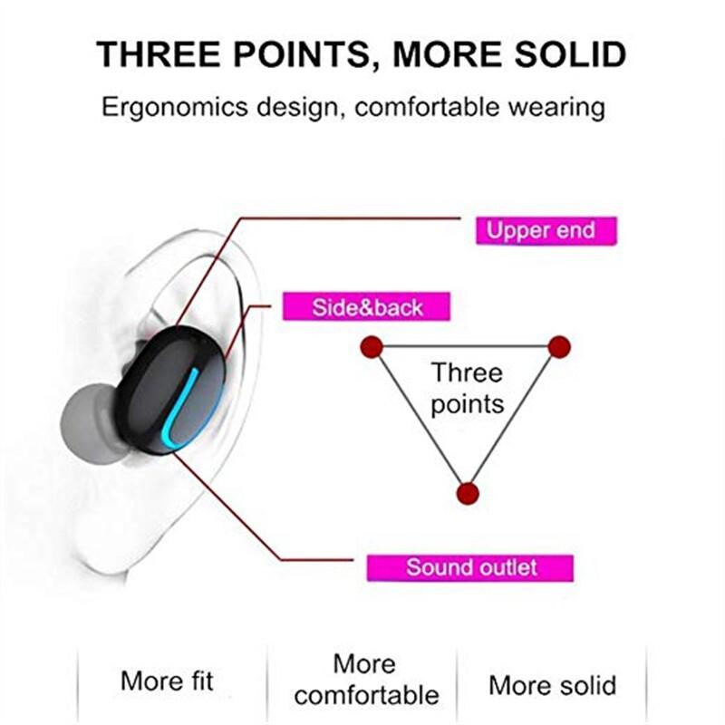 On-Ear Headphones - WIRELESS BLUETOOTH Head SET 5.0 Sports Earbuds Stereo Waterproof HBQ Q32 - SKIN / BLACK / WHITE