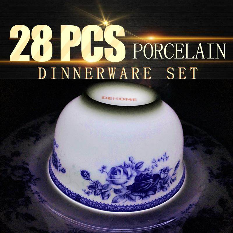 Royal Rose Fine Porcelain Dinnerware Plate 28pcs