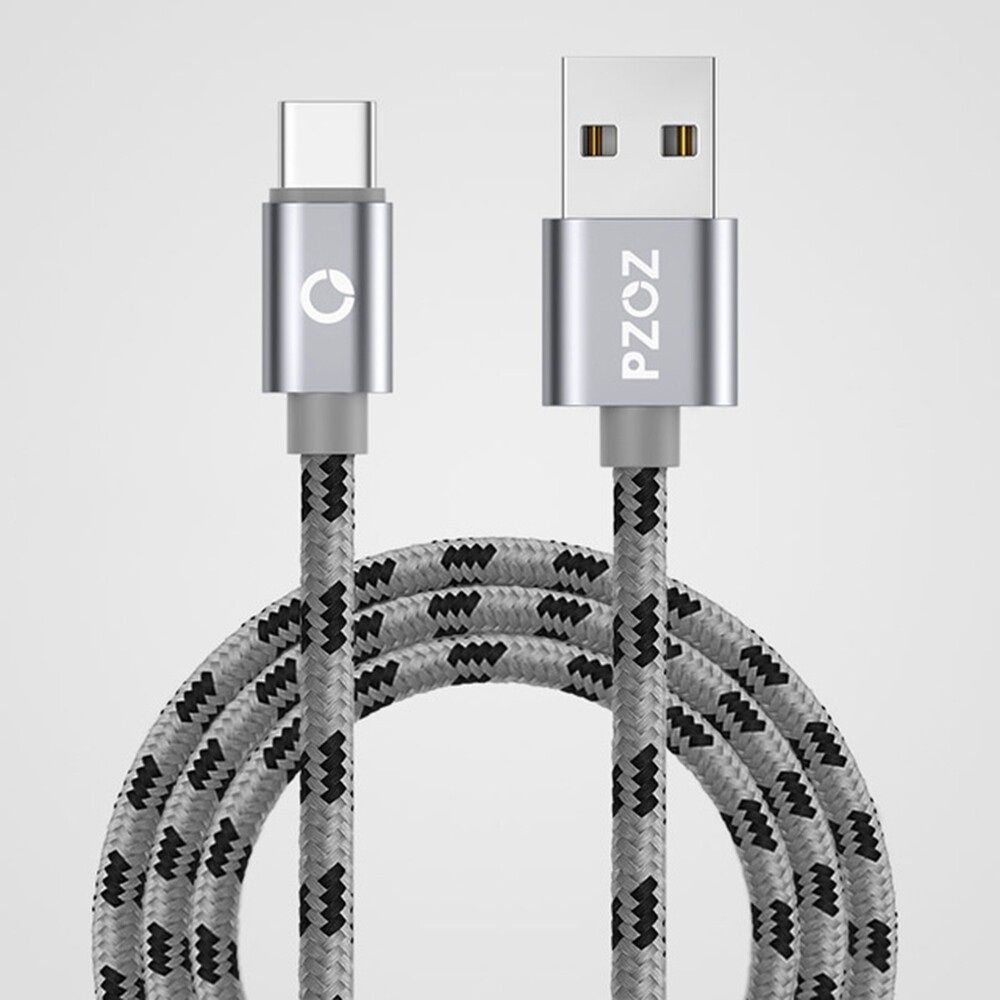 Mobile Cable & Chargers - PZOZ 3A Type C QC3.0 Data Cable For Xiaomi MI8 MI9 HUAWEI P30 Pro S9 S10 S10+ - GRAY / GOLD / SILVER