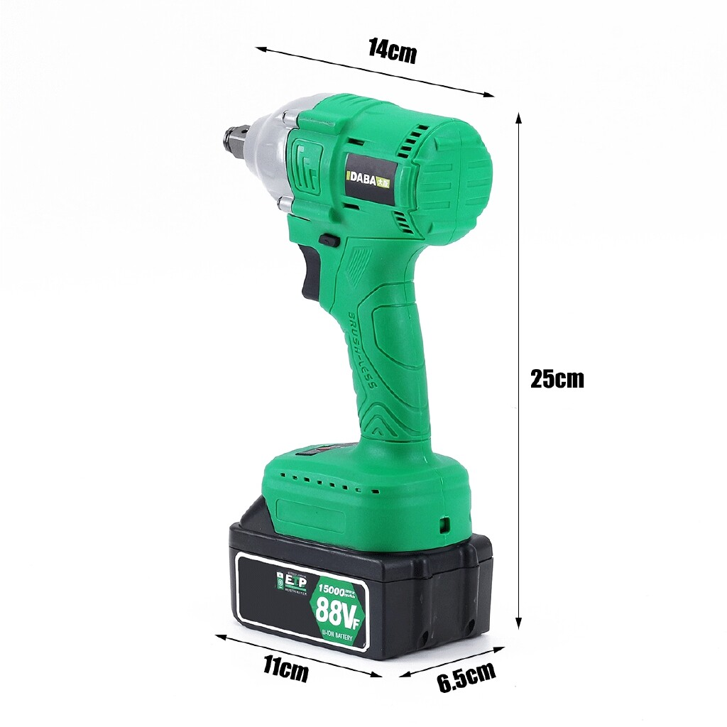 DIY Tools - 30000mAH 1/2'' Brushless Cordless Impact Wrench Drill High Torque - Home Improvement