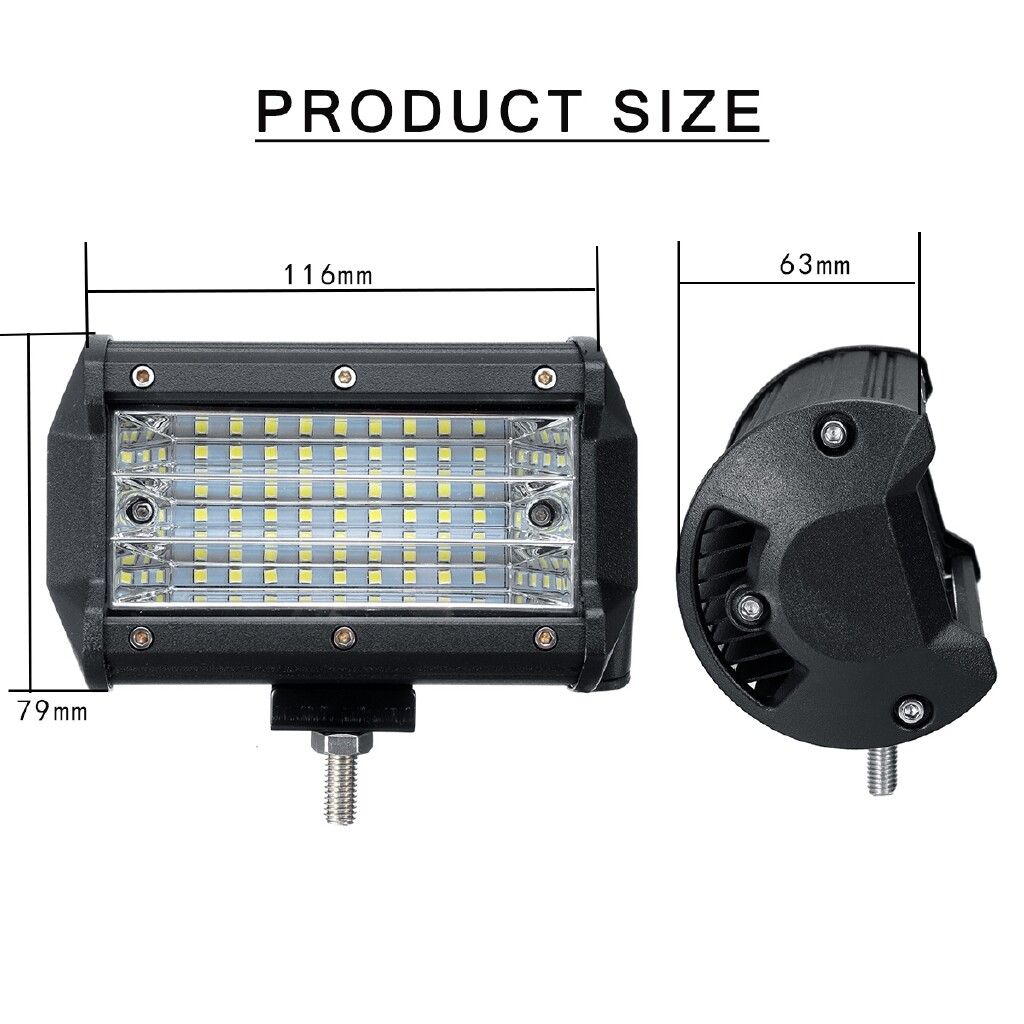 Car Lights - Pair 45W LED Work Light Bars Spot Driving Lamp Off-Road 4WD 4X4 Truck 12V/24V - Replacement Parts