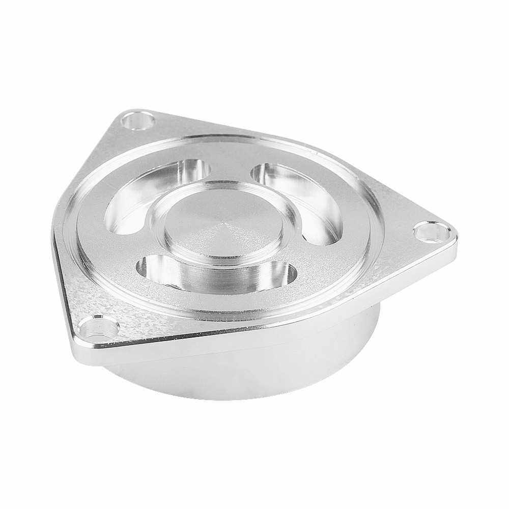 Direct Fit Blow Off Valve Adapter Replacement for Honda Civic 1.5T HKS SSQV 2015-2019 (Silver)