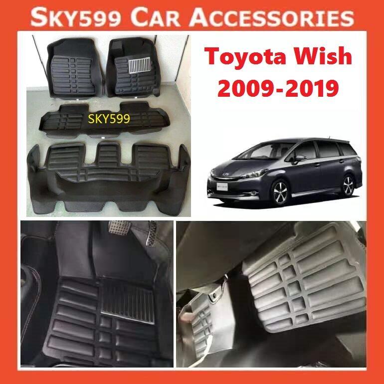 Toyota Wish 2009-2020 5D Car Floor Mat/Carpet?3row?