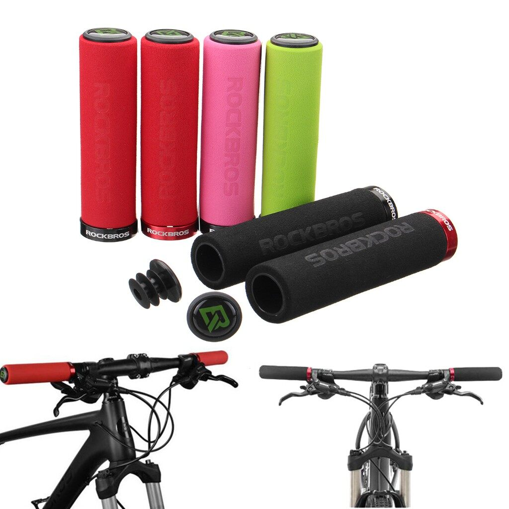 Parts & Components - RockBros Bicycle 1 Pair MTB Handlebar Sponge Grips Single Multiple color - GREEN+BLACK / RED / BLACK+RED / RED+BLACK