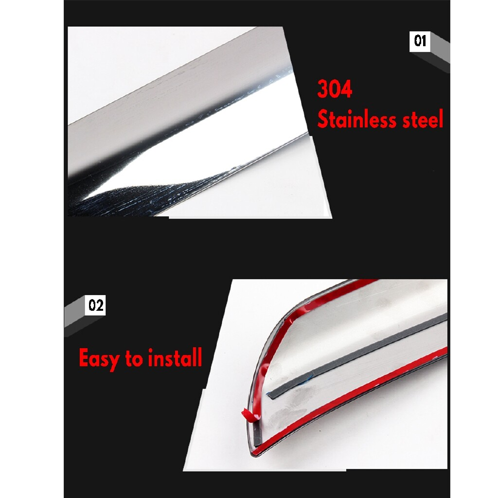 Car Lights - For Mazda CX-5 CX5 2017- Stainless Steel Chrome Front bumper lip trim cover - Replacement Parts