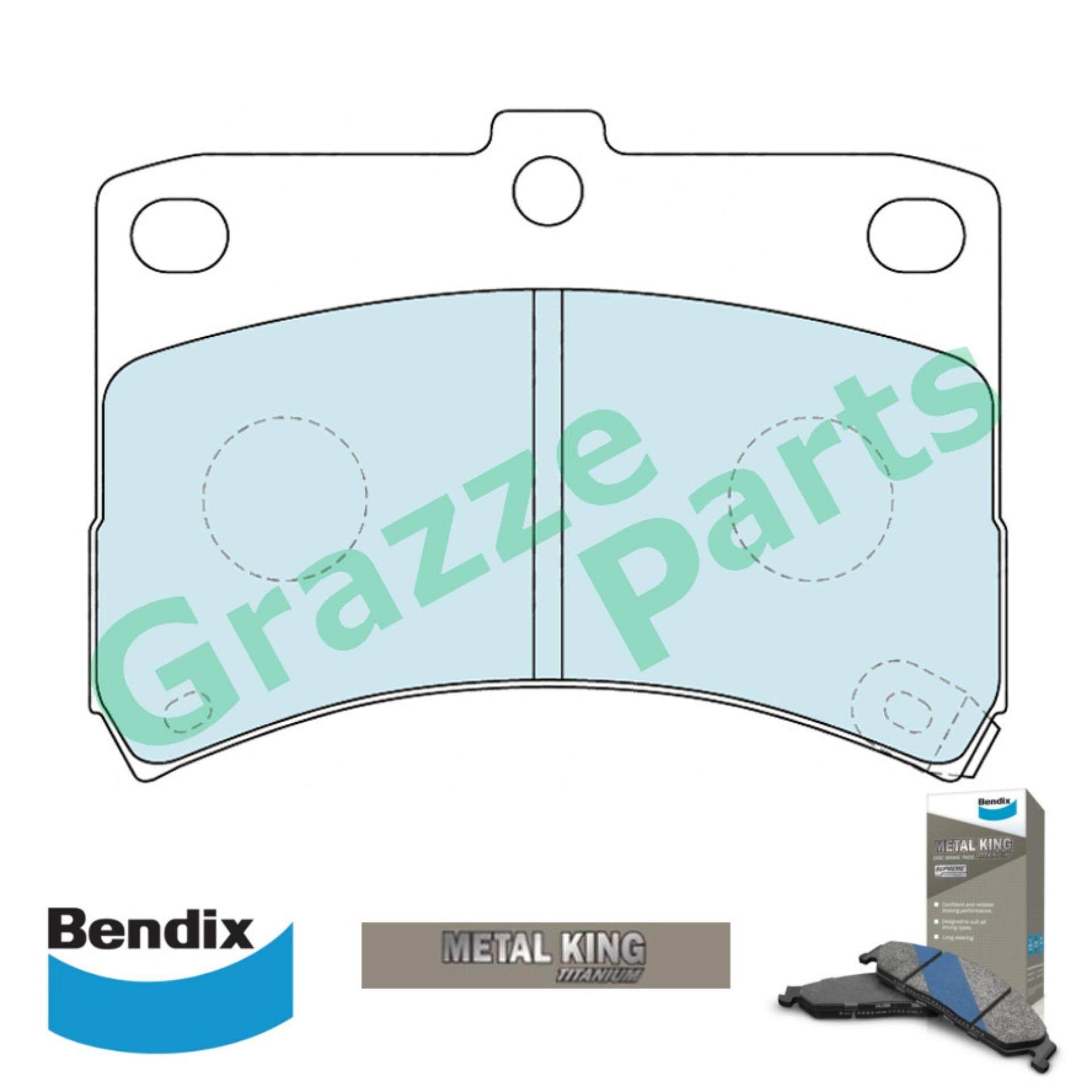 Bendix Metal King Titanium Disc Brake Pad Front for DB1413 - Perodua Kelisa Kenari