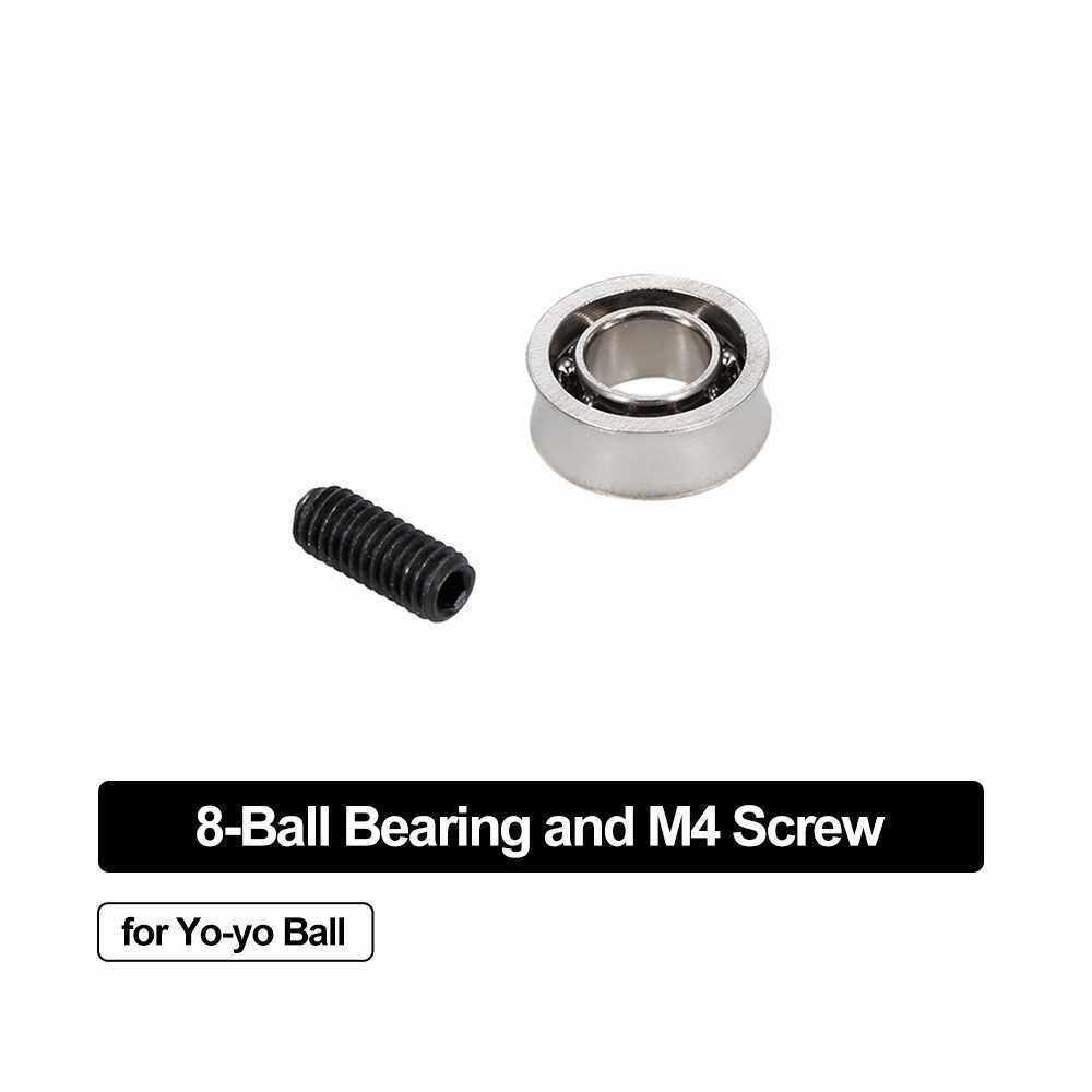 1PCS Yoyo Bearing Non-responsive Metal Shaft 1PCS 10mm M4 Screw Yoyo Ball Accessories (Type 2)