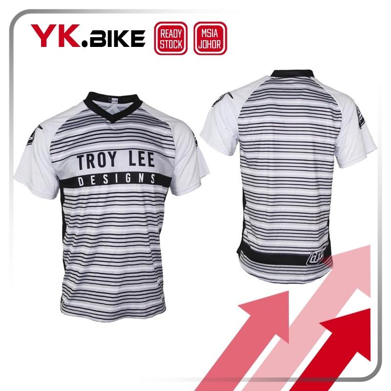YKBIKE [LOCAL READY STOCK] Cycling Short Sleeve Downhill Jersey Bicycle Bike MTB Jersey Motocross Racing Sport Wear APL3005