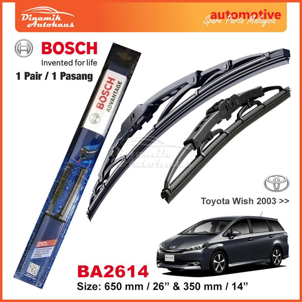 Toyota Wish Car Year 2003+ Windshield Wiper Blade 26  / 14  Bosch Advantage BA2614