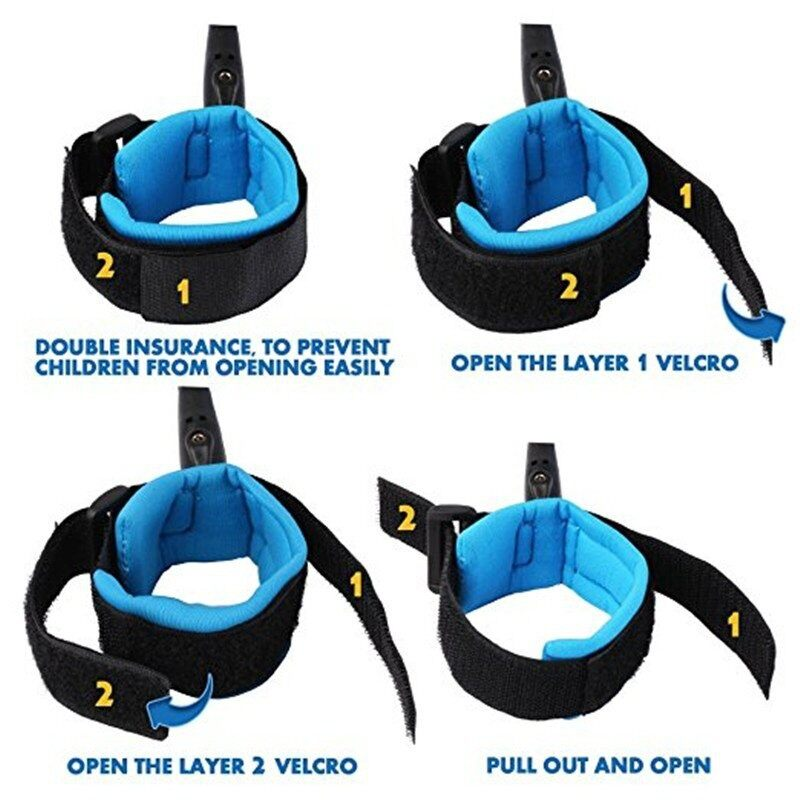 [ Local Ready Stocks ] 360 Degree Anti Lost Wrist Link Toddler Leash Safety Harness for Baby ( Blue 2.5M)