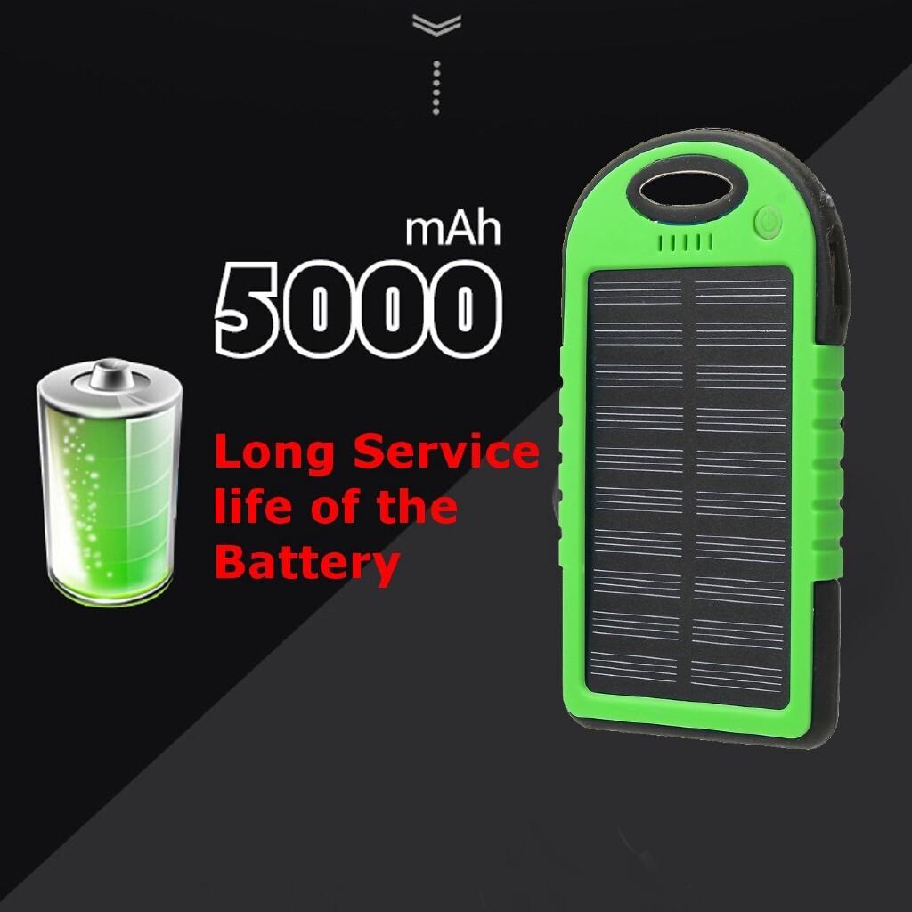 Camping & Hiking - 5000mAh Dual USB Solar Energy Camping Flashlight Case Power - YELLOW / GREEN / BLACK