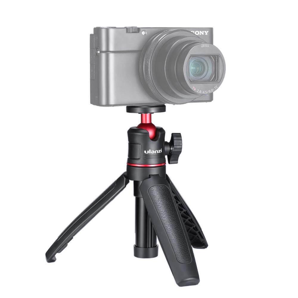 MT-08 Mini Portable and Adjustable Desktop Tripod for DSLR SLR Cellphone Ballhead Stand for Vlog Live Outdoor Travel