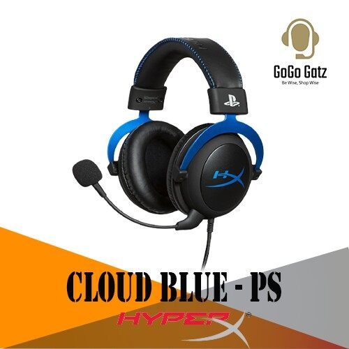 {HX-HSCLS-BL/AS}{Ship Out Within 24 Hours} HyperX Cloud Blue Gaming Headset for PS4 PlayStation®4 systems
