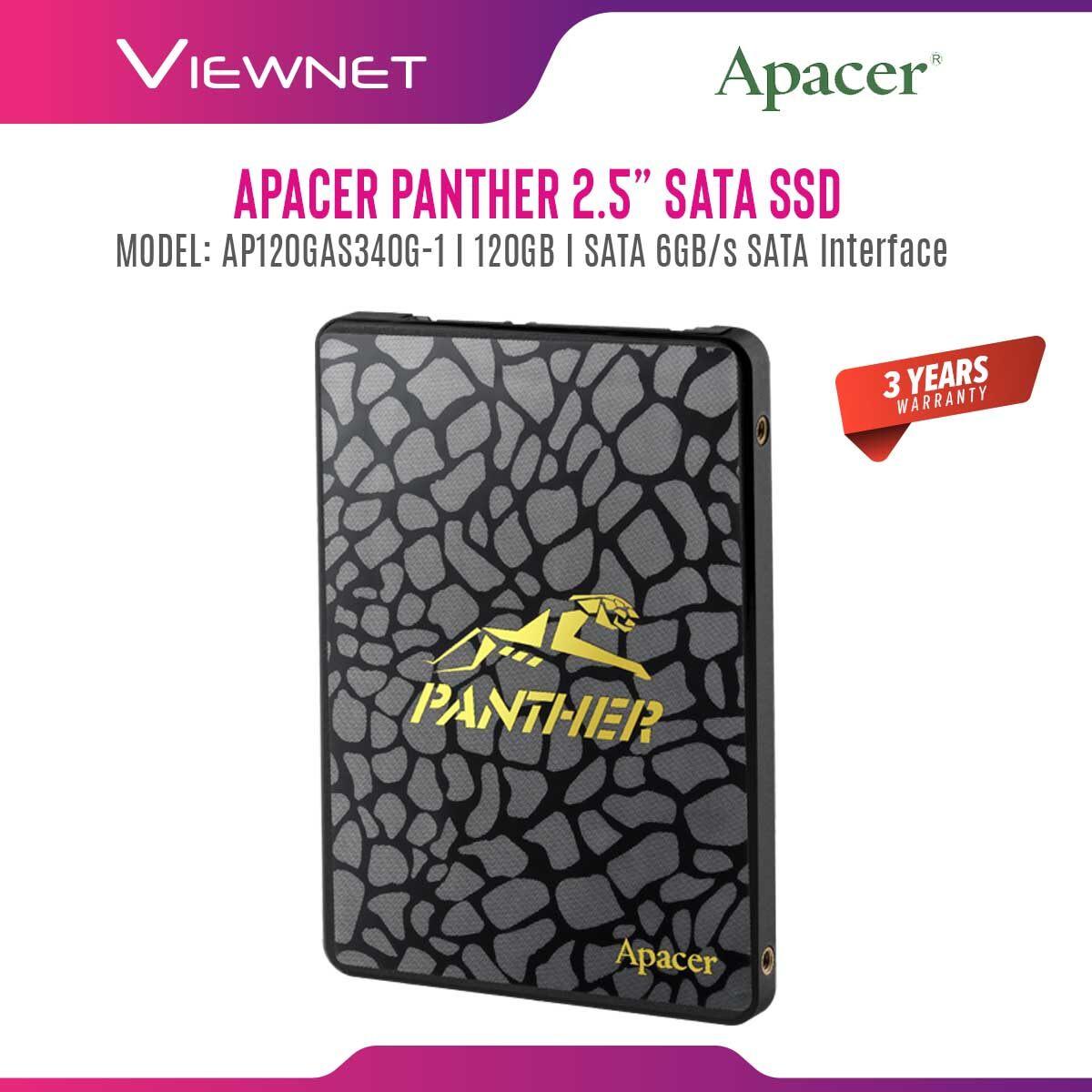 Apacer AS340 Panther (120GB/240GB/480GB/960GB) & AS350X (128GB/256GB/512GB/1TB) 2.5