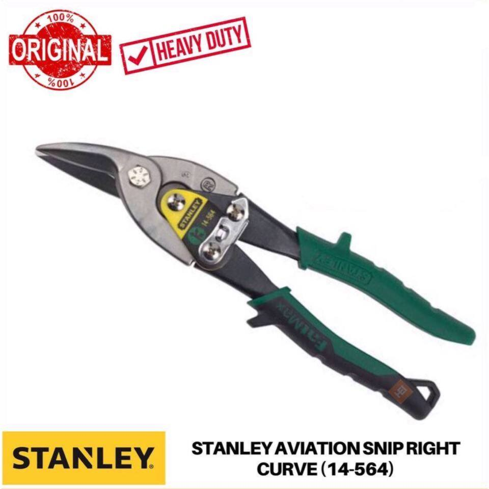 Stanley Aviation Snips-Right Curve (Green)
