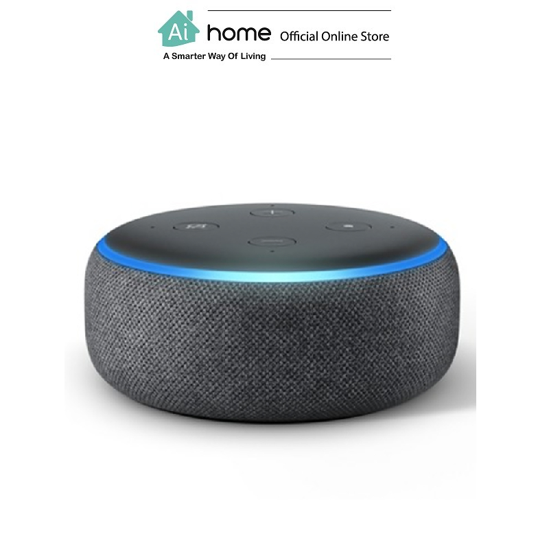 AMAZON Echo Dot 3rd Generation [ Smart Speaker ] Build in Alexa Assistant with 1 Year Malaysia Warranty [ Ai Home ] AE3DG