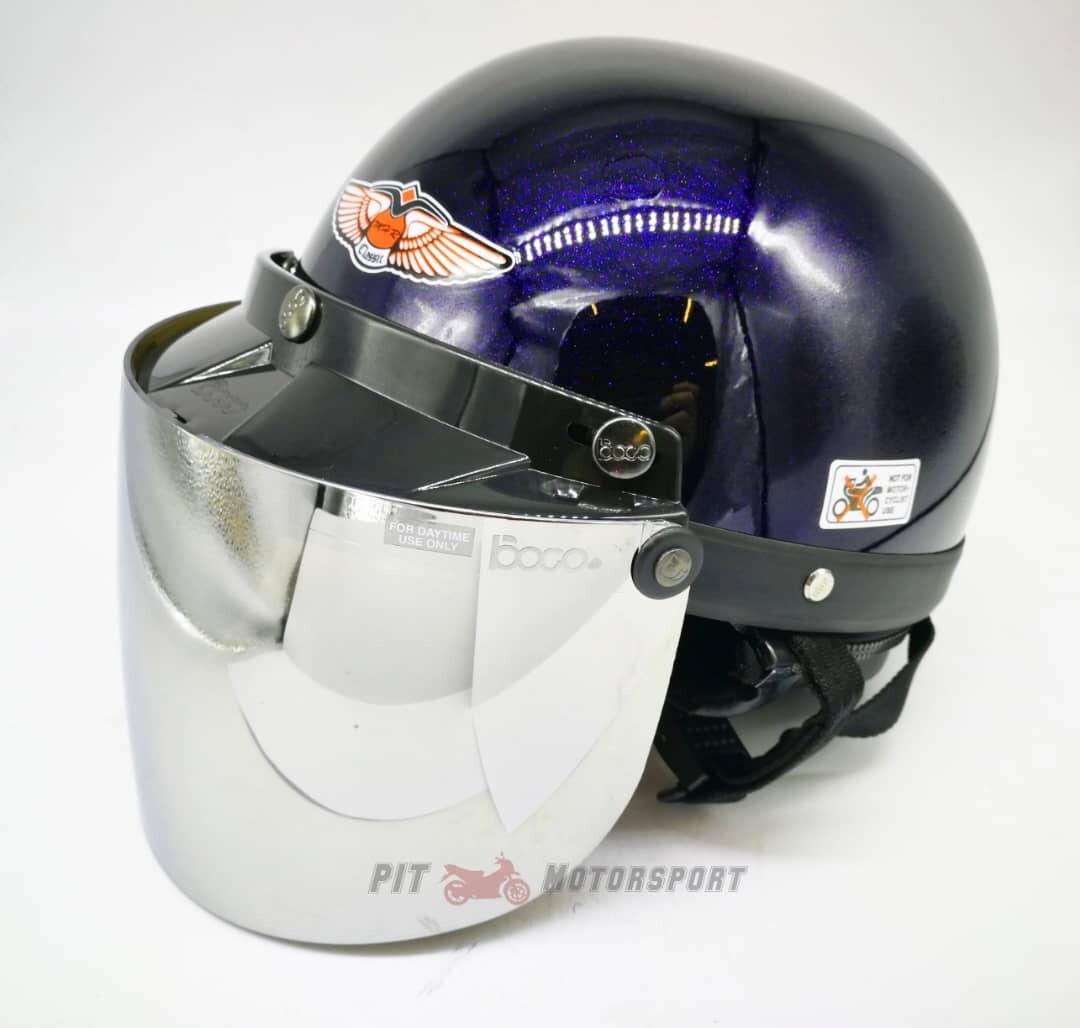 MALIBU BLUE 100% Original MHR III Half Cut Helmet / MHR 3 Size L Add On Visor KYT Arai SGV AGV LS2 X-dot Givi Taichi Alpinestar NLK R15 Y15 RS150