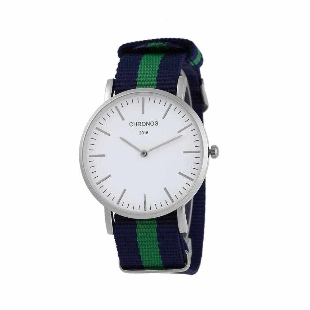 CHRONOS Fashion Quartz Movement Shock-proof Anti-magnetic Unisex Watch (Blue+Green)