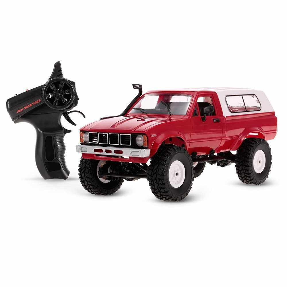 WPL C-24 2.4G 4WD 1:16 Off Road Rock Crawler with Front LED RC Car RTR (Red)