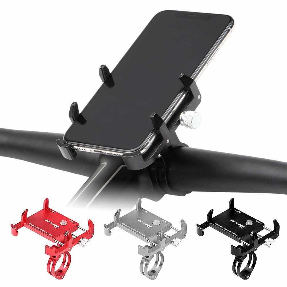 GUB Adjustable Universal Bicycle Phone Mount Holder MTB Mountain Bike Motorcycle Handlebar Clip Stand (Black)
