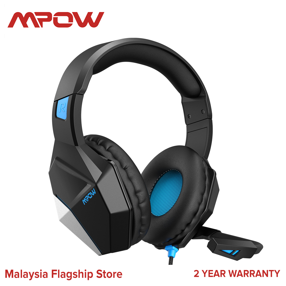 [ NEW ARRIVAL ] Mpow EG10 PC Gaming Headset for PS4,PS5,PC,Xbox One,Switch -7.1 Surround Sound Headset with Microphone,Noise Cancelling,LED Light,Soft Earmuffs,Gaming Headphone with Microphone for PC Headset