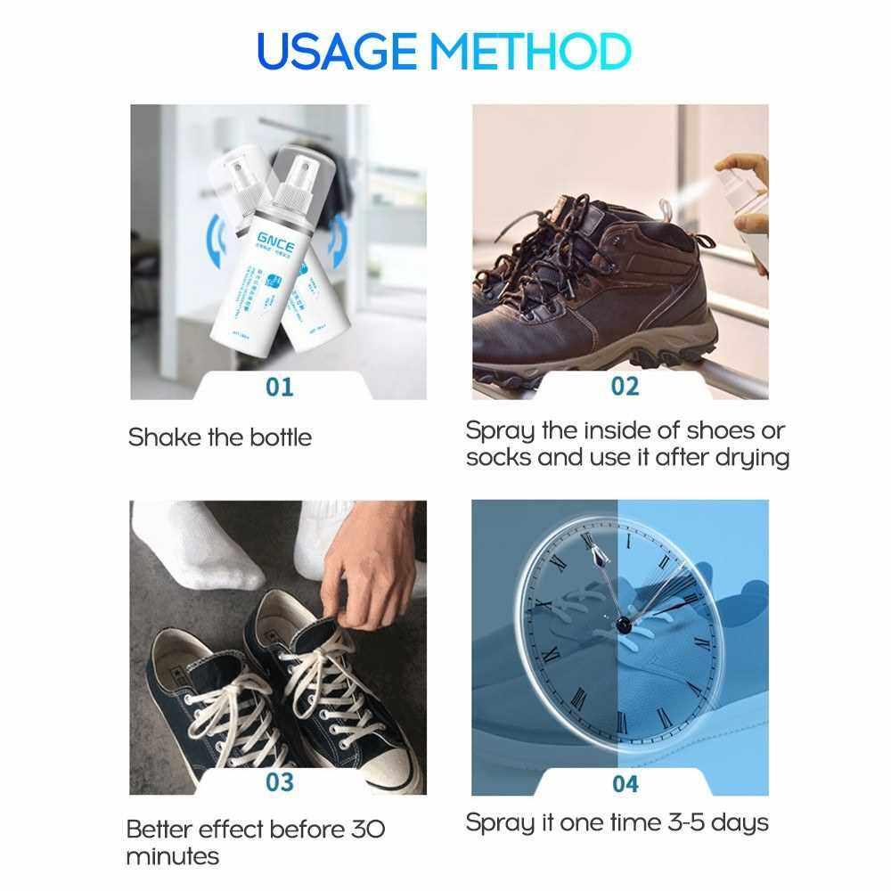 People's Choice 100ml Portable Shoe Socks Deodorant Spray Odor-free Anti-bac-terial Freshener Spray (Standard)