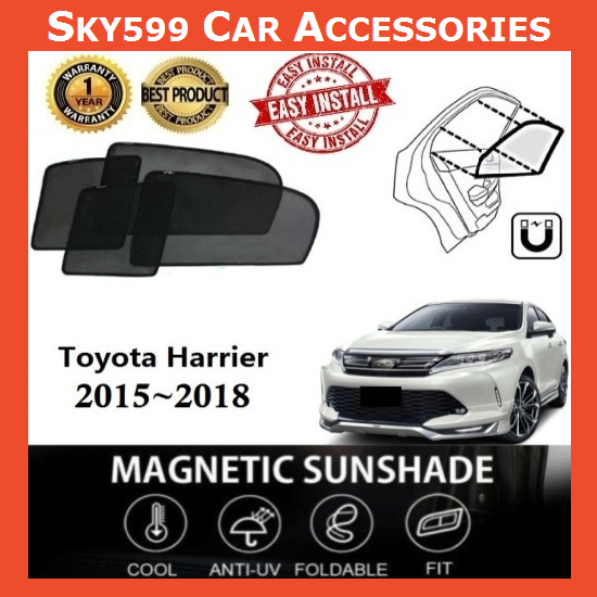 Toyota Harrier 2015-2020 Magnetic Sunshade [6 PCS]