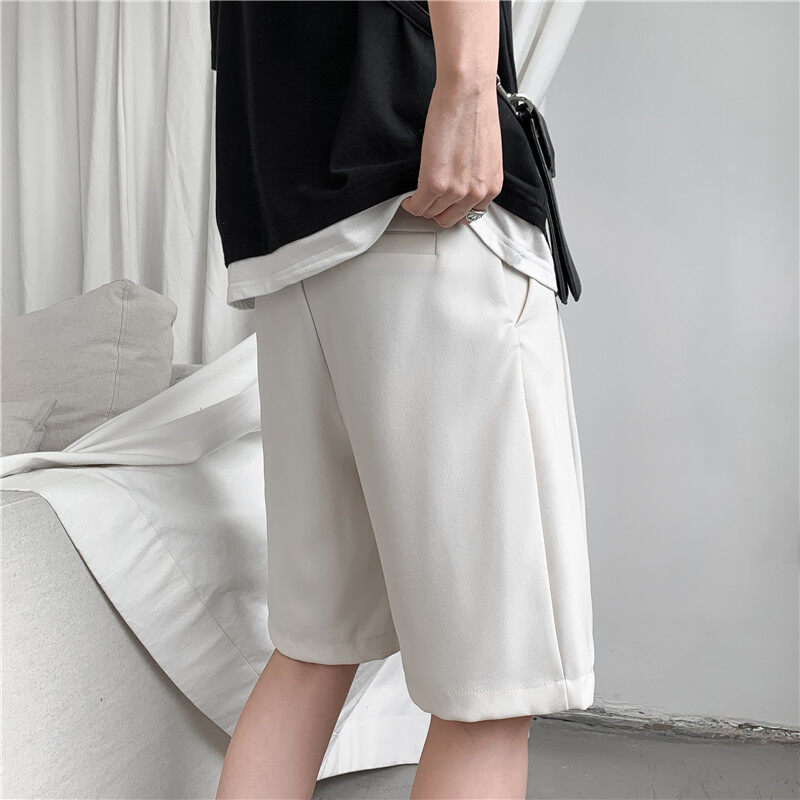 (PRE ORDER) MEN'S KOREAN TREND INS CASUAL SHORT LOOSE STRAIGHT PANTS