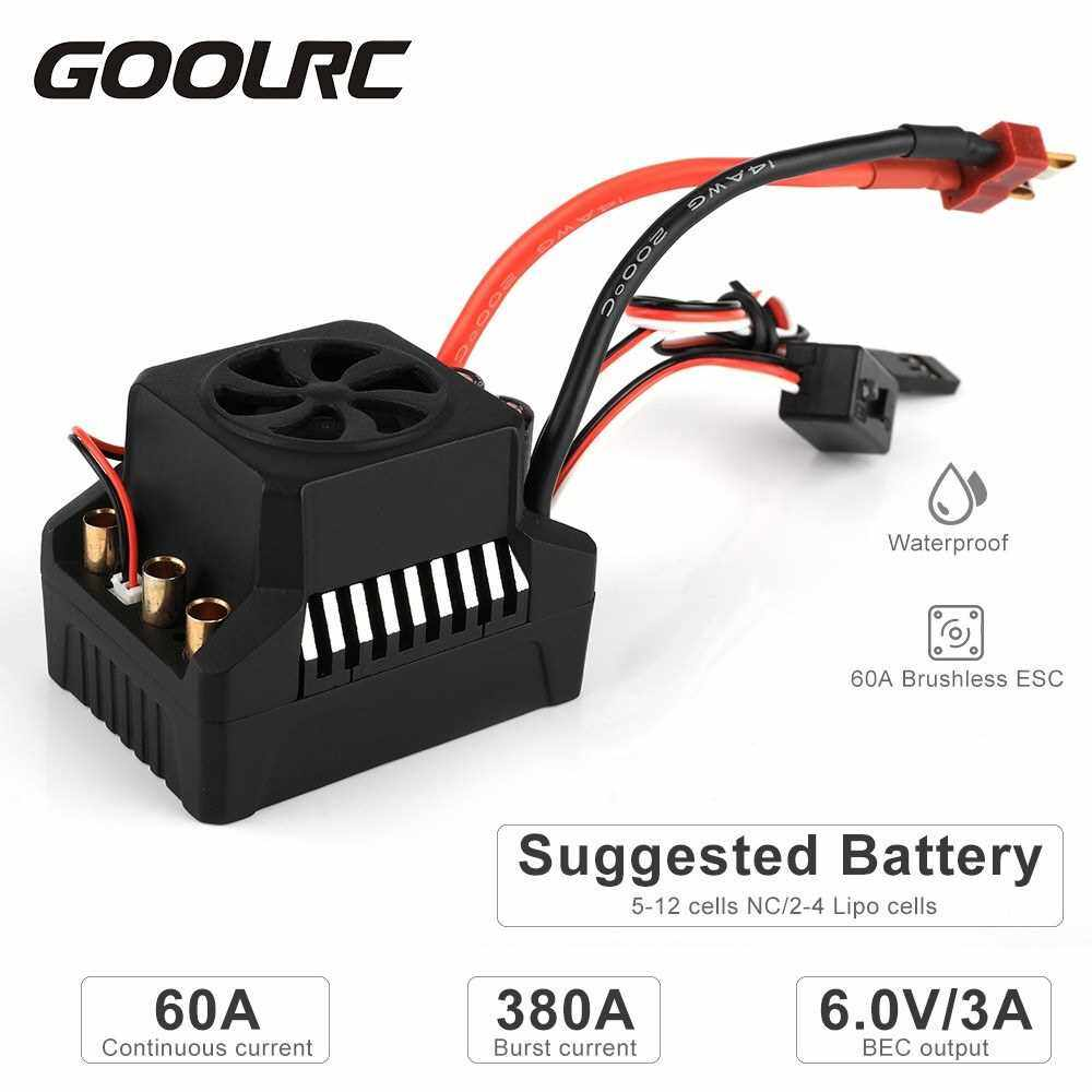 Best Selling GoolRC 60A ESC Brushless Electric Speed Controller 6V/3A BEC for 1/10 RC Car Crawler Truck (Standard)