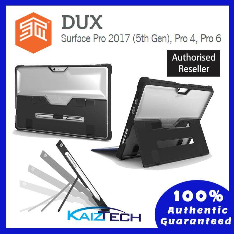 Original STM Dux Rugged Case for Microsoft Surface 2017/ Pro 4 / Surface Pro 6 - Black