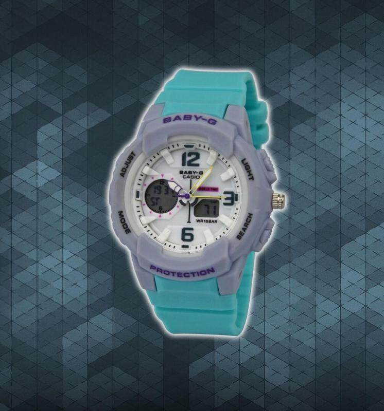 BABY_G DUAL TIME RUBBER STRAP WATCH FOR WOMEN