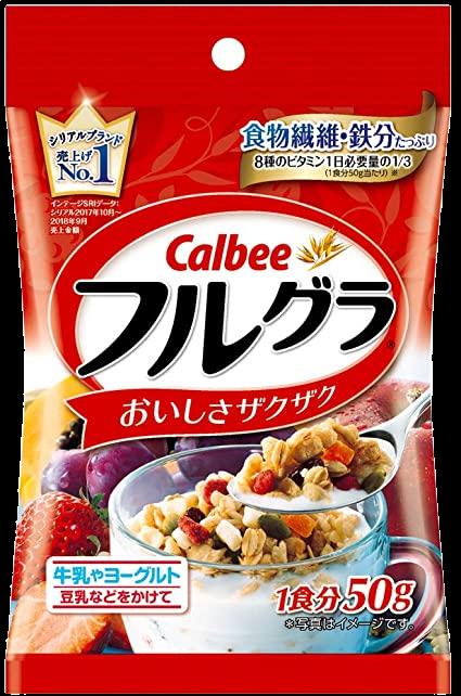 Ready stock 正品 ORIGINAL CALBEE Frugra 50g 日本正品营养水果干 (2683)